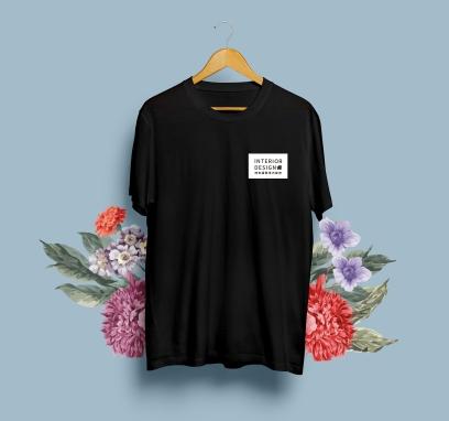 博舍國際室內裝修-T-Shirt Front-01-BK-展示-方